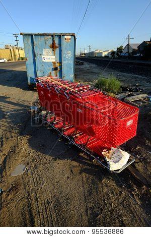 Shopping Carts at Recycle Center
