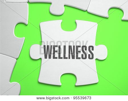 Wellness - Jigsaw Puzzle with Missing Pieces.