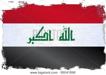Iraq Grunge Flag