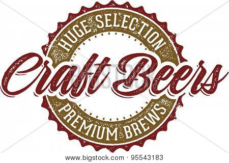 Vintage Style Craft Beer Sign