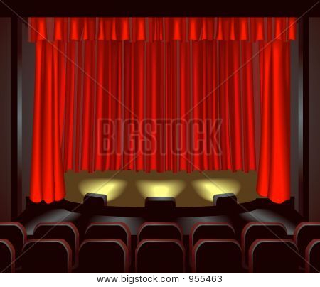 an empty theatre stage for you to place what you like on. poster