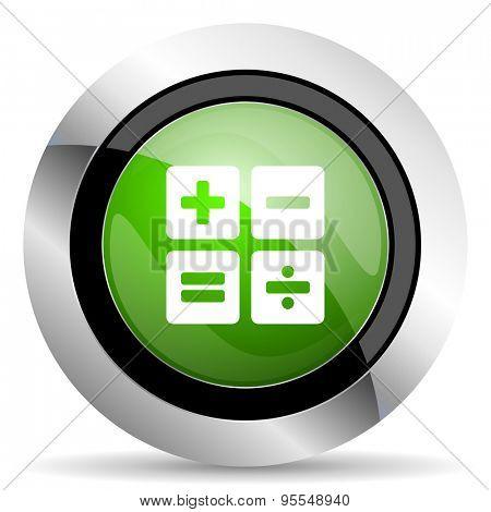 calculator icon, green button, calc sign