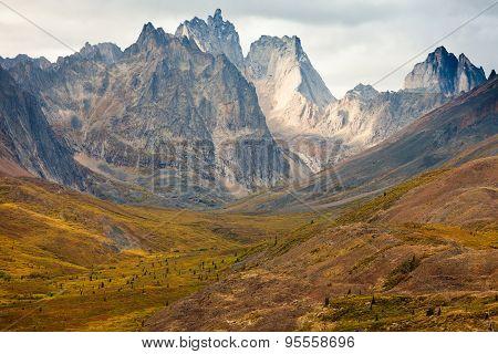 Tombstone Mountain Range Yukon Territory Canada