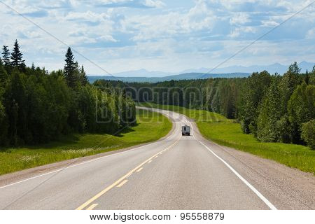Rv Driving Alcan South Fort Nelson Bc Canada