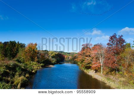 Pictou East River Fall Landscape Nova Scotia Ns Canada