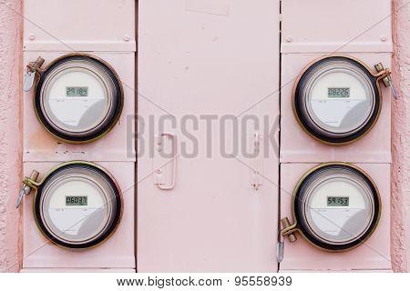 Residential Digital Power Supply Watthour Meter Array
