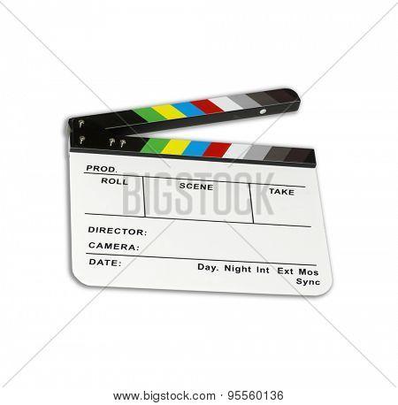 Independent movie clapper board - color checker - ( modified )