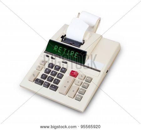 Old Calculator - Retire