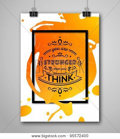 Motivational Poster You Are Stronger Than You Think