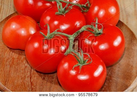 Vegetables, Tomatoes, Wooden Chopping Board