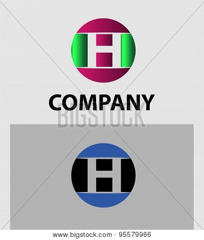 Set of letter H logo icons design template elements. Collection of vector signs