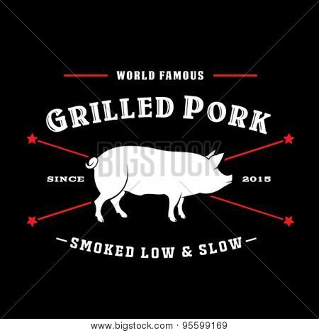 Grilled Pork Smoked Low & Slow Seal Logo