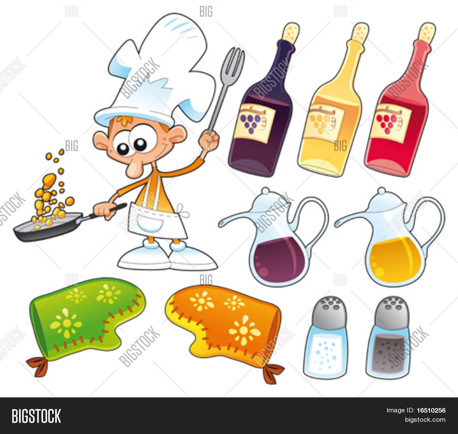 Cook Kitchen Objects Vector Photo Free Trial Bigstock