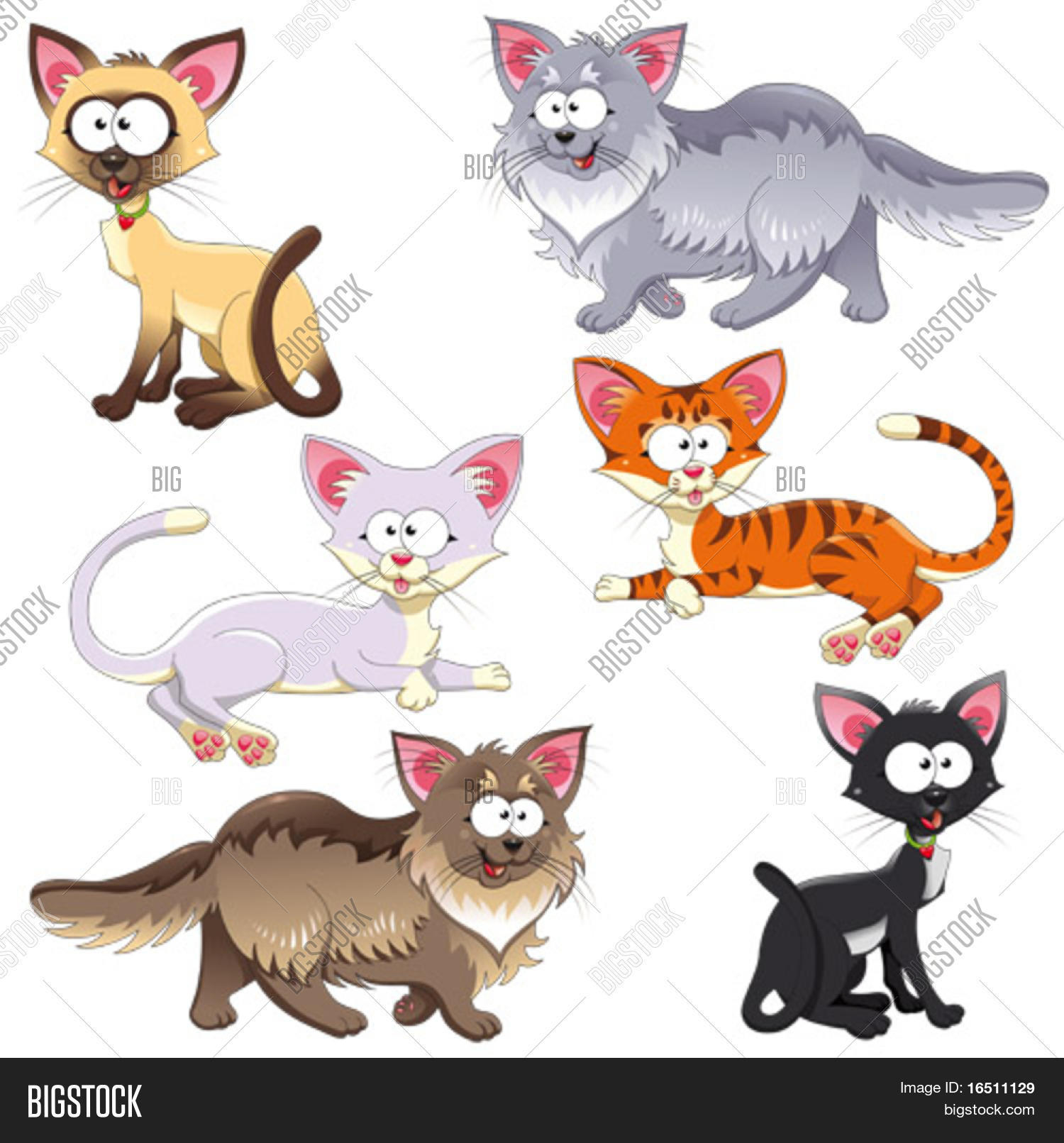 Family Cats Funny Vector Photo Free Trial Bigstock