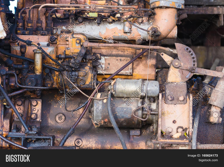 Vintage Engine Car System. Part Old Image & Photo | Bigstock