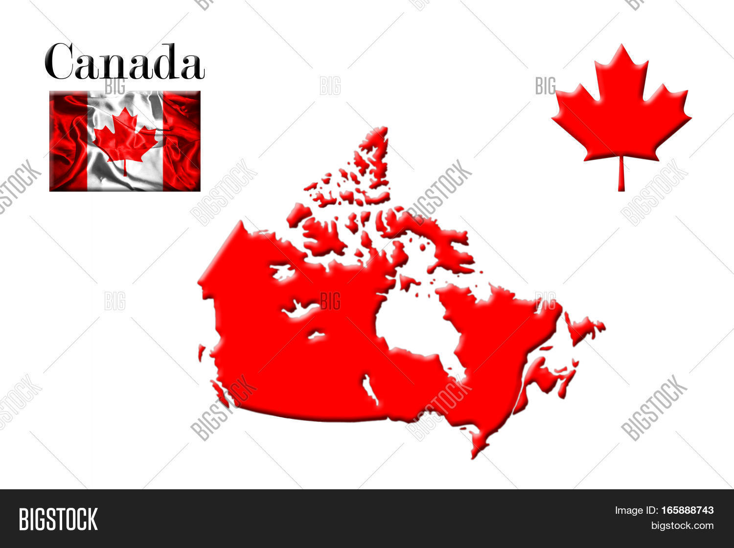 Canada Map Flag.Canadian Map Flag Image Photo Free Trial Bigstock