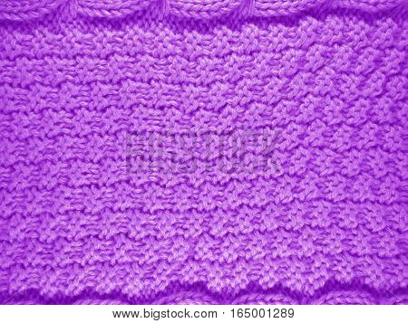 Knitted Wool Background - Violet