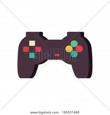 Gamepad Isolated. Joystick On White Background. Vintage Video Game Gadget. Console Accessory