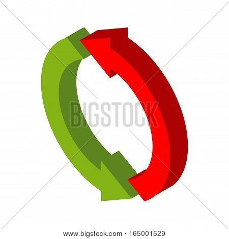 Exchange Sign. Replace Symbol Isolated. Swap Business Logo. Red And Grin Circle Arrow
