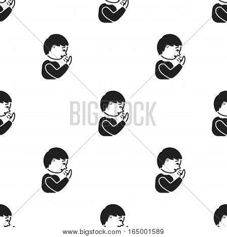 Cough icon black. Single sick icon from the big ill, disease black. - stock vector