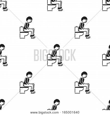 Diarrhea icon black. Single sick icon from the big ill, disease black. - stock vector
