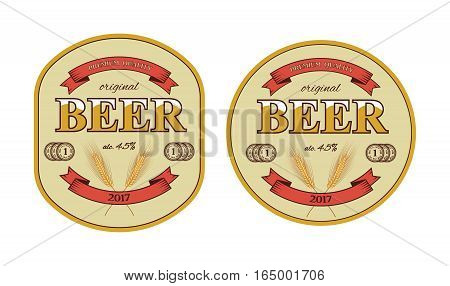 Vector isolated beer label and beer mat template.
