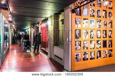 Turin, Italy - January 01, 2016: tourists visit National Museum of Cinema in Turin Italy. The Museum is one of the most important of its kind in the world.
