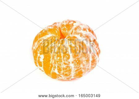 Fresh clementine isolated on a whit background