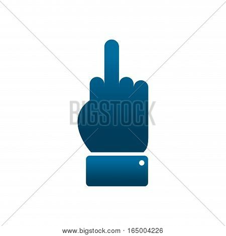 Aggression symbol. middle finger Off. Vector illustration