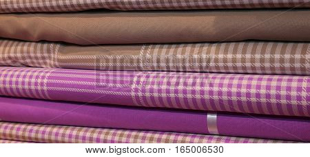 Variety Of Fabrics For Sale  Of Haberdashery