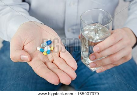 Person Taking Different Types Of Drugs
