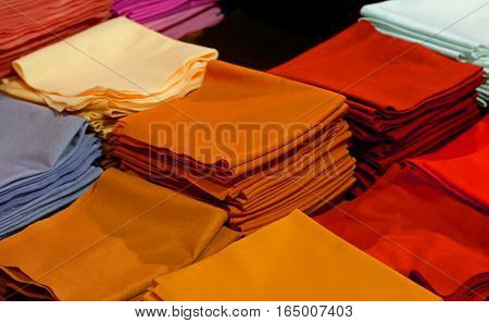 Background Of Clothes And Felt And Boiled Wool For Handicrafts C
