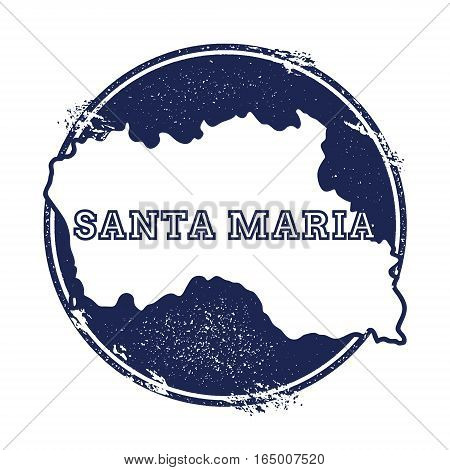 Santa Maria Island Vector Map. Grunge Rubber Stamp With The Name And Map Of Island, Vector Illustrat