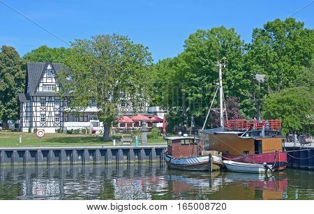 Harbor in Kloster on Hiddensee Island at baltic Sea,Mecklenburg western Pomerania,Germany