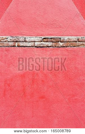 Textured Background, Old Brick Wall Pattern In Burano