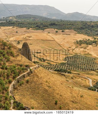 Summer landscape seen from Ronda (Andalucia Spain)