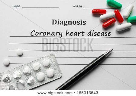 Coronary Heart Disease On The Diagnosis List, Medical Concept