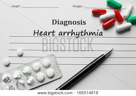 Heart Arrhythmia On The Diagnosis List, Medical Concept