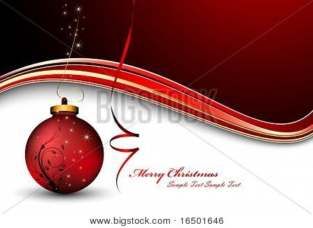 Vector Christmas Background With Decorated Christmas Ball