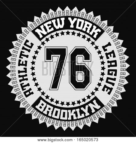 Fashion Typography Graphics. New York Sport  T-shirt Design, vector
