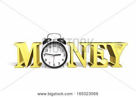 Time Is Money, 3D Illustration