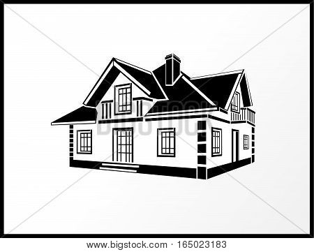 symbol of the house for all kinds of advertising resources