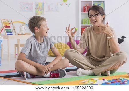 Private Tutor Teaching Child