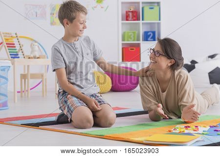 Private Tutor And Child