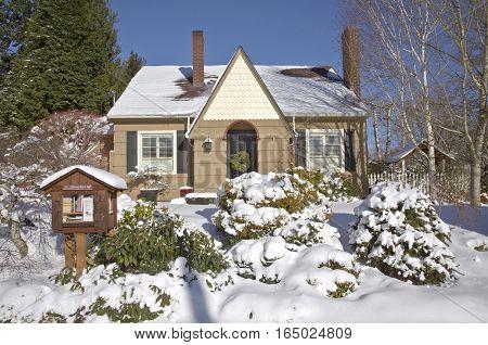 Winter scene of home sweet home in Gresham Oregon.
