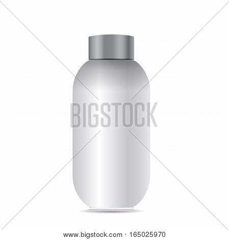 Blank Product bottle isolated on white background. Mock Up Vector isolated on white background