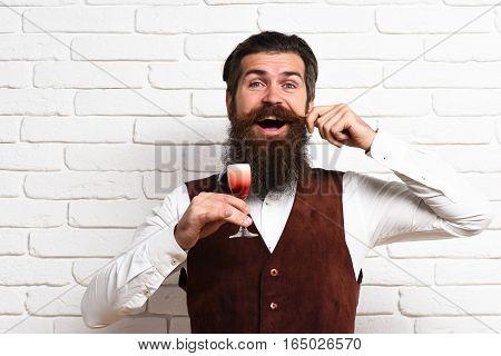 Happy Handsome Bearded Man