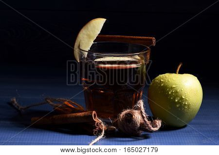 Glass Of Juice, Apple And Cinnamon