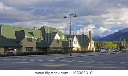 Jasper, Canada - September 8, 2016: Railway Station In The City
