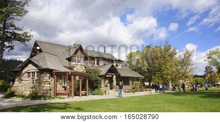 Jasper, Canada - September 10, 2016: Tourist Visitor Center On 1
